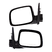 Kool Vue Manual Mirror, Driver and Passenger Side, Manual Folding, Paintable