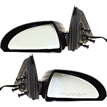 Kool Vue Power Mirror, Driver and Passenger Side, Non-Folding, Non-Heated, Paintable, w/ Textured Black Base