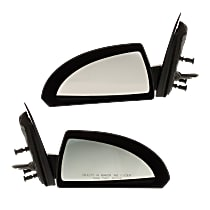 Mirror - Driver and Passenger Side (Pair), Power, Heated, Paintable, With Grained Black Base
