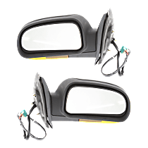 Mirror - Driver and Passenger Side (Pair), Power, Heated, Power Folding, Textured Black, Amber Turn Signal