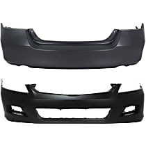 Front and Rear Bumper Cover, Primed - Sedan