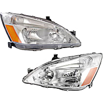 Driver and Passenger Side Headlight, With bulb(s) - Coupe/Sedan