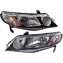 Driver and Passenger Side Headlight, Without bulb(s) - Sedan/Hybrid Models