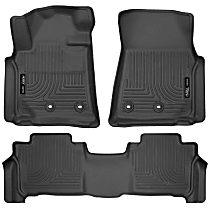 SET-H2113091 Black Floor Mats, Front And Second Row