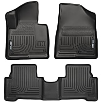 SET-H2113851 Black Floor Mats, Front And Second Row