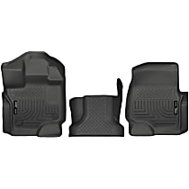 Black Floor Mats, Front Row and Center Hump