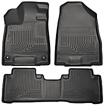 SET-H2118401 Black Floor Mats, Front And Second Row