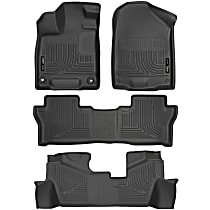 Gray Floor Mats, Front, Second, And Third Row
