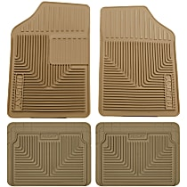 SET-H2151053-4 Tan Floor Mats, Front, Second, and Third Row