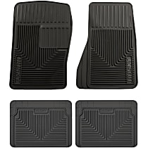 Black Floor Mats Front and Third Row