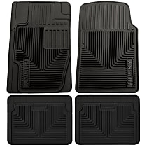 SET-H2151111-4 Black Floor Mats, Front, Second, and Third Row