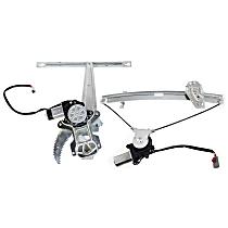 Front and Rear, Driver Side Power Window Regulator, With Motor - Sedan