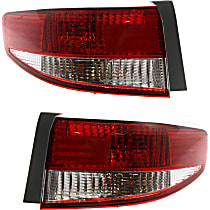 Driver and Passenger Side, Outer Tail Light, With bulb(s), Sedan