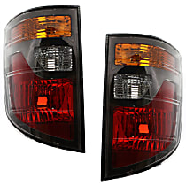 Driver and Passenger Side Tail Light, Without bulb(s) - Amber, Clear & Red Lens, USA Built