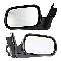 Power Mirror, Passenger Side, Coupe, Manual Folding, Paintable