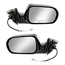 Mirror - Driver and Passenger Side (Pair), Power, Folding, Paintable, For Coupe