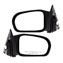 Power Mirror, Driver and Passenger Side, For USA Built HX/LX Models, Coupe, Non-Folding, Non-Heated, Paintable