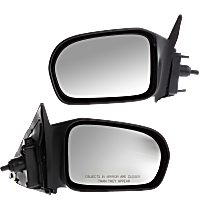 Mirror - Driver and Passenger Side (Pair), Manual Remote, Textured Black, For US Built Coupe