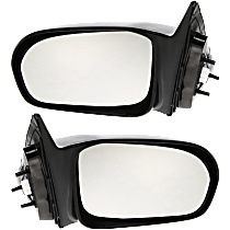 Power Mirror, Driver and Passenger Side, Sedan, Non-Folding, Non-Heated, Paintable