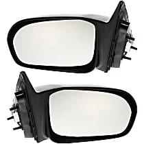 Kool Vue Power Mirror, Driver and Passenger Side, Sedan, Non-Folding, Non-Heated, Paintable