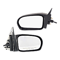 Mirror - Driver and Passenger Side (Pair), Manual Remote, Paintable, For Sedan