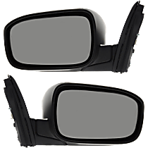 Mirror - Driver and Passenger Side (Pair), Power, Folding, Paintable, For US Or Japan Built Sedan