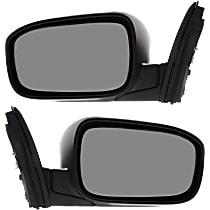 Kool Vue Power Mirror, Passenger Side, Japan/USA Built Models, Sedan, Manual Folding, Non-Heated, w/o Signal, Paintable