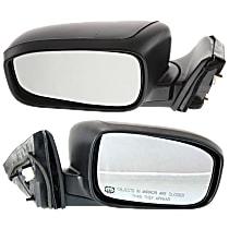 Kool Vue Power Mirror, Passenger Side, Japan/USA Built Models, Sedan, Manual Folding, Heated, w/o Signal, Paintable