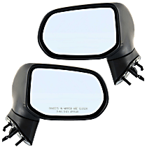 Mirror - Driver and Passenger Side (Pair), Power, Folding, Textured Black, Us Or Japan Built Sedans