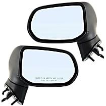 Mirror - Driver and Passenger Side (Pair), Power, Folding, Textured Black, Us Or Japan Built Sedans