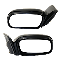 Mirror - Driver and Passenger Side (Pair), Power, Light Textured, For Coupe