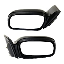 Kool Vue Power Mirror, Driver and Passenger Side, Coupe, Non-Folding, Non-Heated, Light textured