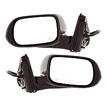 Mirror - Driver and Passenger Side (Pair), Power, Heated, Folding, Paintable, With Turn Signal, For US Or Japan Built Sedan