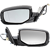 Mirror - Driver and Passenger Side Pair, Power, Folding, Heated, Folding, Paintable, With Turn Signal, For Sedan w/ Lane Departure