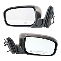 Mirror - Driver and Passenger Side (Pair), Power, Heated, Folding, Paintable, For Coupe