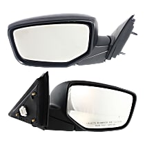 Kool Vue Power Mirror, Passenger Side, Sedan, Manual Folding, Non-Heated, Paintable