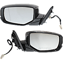 Mirror - Driver and Passenger Side (Pair), Power, Folding, Heated, Folding, Paintable, With Turn Signal, For Coupe