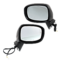 Mirror - Driver and Passenger Side (Pair), Power, Paintable, With Turn Signal