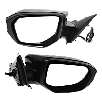 Driver and Passenger Side Heated Mirror - Power Glass, Manual Folding, Without Signal Light, Without memory, Paintable