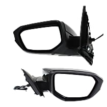 Driver and Passenger Side Non-Heated Mirror - Power Glass, Manual Folding, Without Signal Light, Without memory, Paintable