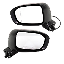 Driver and Passenger Side Non-Heated Mirror - Power Glass,, Paintable