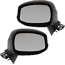 Mirror - Driver and Passenger Side (Pair), Power, Light Textured