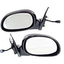 Kool Vue Manual Remote Mirror, Driver and Passenger Side, Coupe/Hatchback, Manual Folding, Paintable