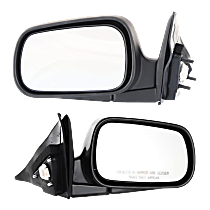 Power Mirror, Passenger Side, USA Built Models, Sedan/Wagon, Manual Folding, Paintable