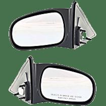 Mirror - Driver and Passenger Side (Pair), Power, Textured Black, For Sedan