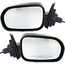 Mirror - Driver and Passenger Side (Pair), Power, Paintable, For Sedan