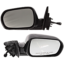 Mirror - Driver and Passenger Side (Pair), Manual Remote, Folding, Paintable, For Sedan