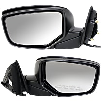 Kool Vue Power Mirror, Passenger Side, Manual Folding, Heated, w/o Memory and Signal, Paintable