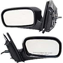 Power Mirror, Driver and Passenger Side, Hatchback, Manual Folding, Non-Heated, Textured Black