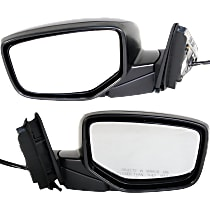 Kool Vue Power Mirror, Passenger Side, Manual Folding, Heated, W/ Memory, w/o Signal, Paintable